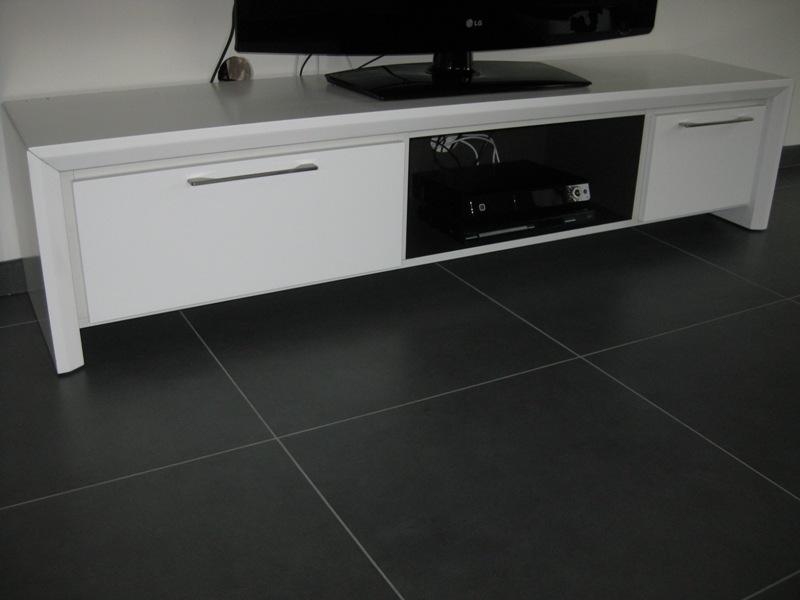Tv meubel wit hoogglans zwevend finest design zwevend wit