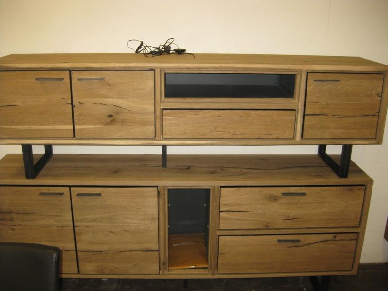 Eikenhout Tv Meubel : Tv dressoir eikenhout metalen frame u meubelen dino