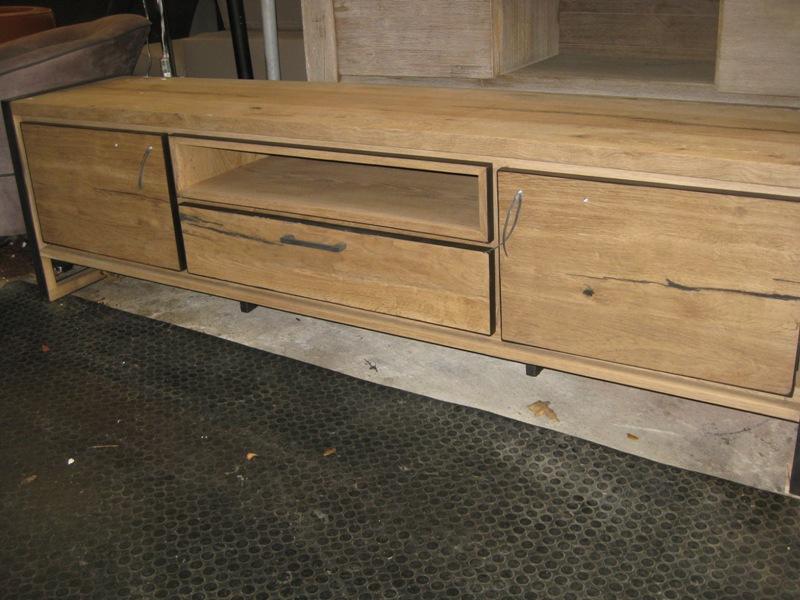 Tv dressoir lowboard eik railway brown meubelen dino